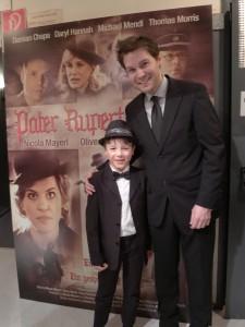 Zusammen mit Oliver Gruber, dem superstarken Hauptdarsteller von Pater Rupert Mayer, bei der FIlmpremiere.