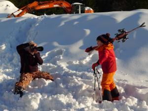 Fotoshooting für den Sport-Scheck Winterkatalog 2014/15