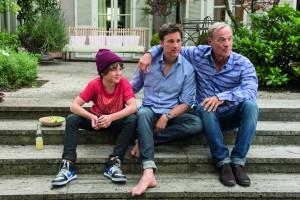 Marinus neben seinem Filmvater Florian David Fitz und seinem Film-Opa Heiner Lauterbach
