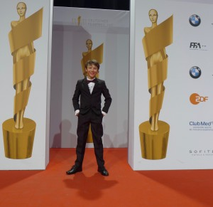 Umgeben von LOLAS - bei der Deutschen Filmpreisverleihung April 2017 in Berlin