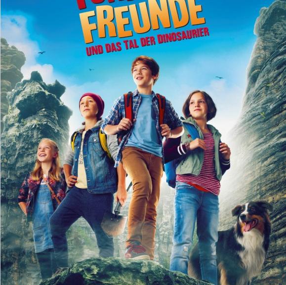 """Kinoplakat """"Fünf Freunde und das Tal der Dinosaurier"""""""